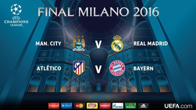 Champions League, Manchester City-Real Madrid e Atletico-Bayern: ecco le semifinali