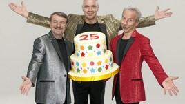 Aldo Giovanni e Giacomo festeggiano 25 anni di carriera