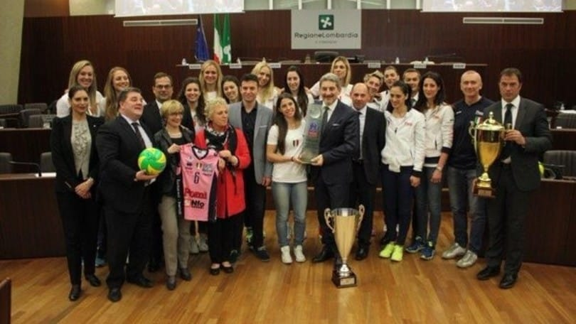 Volley: A1 Femminile, la Pomì premiata dalla Regione Lombardia