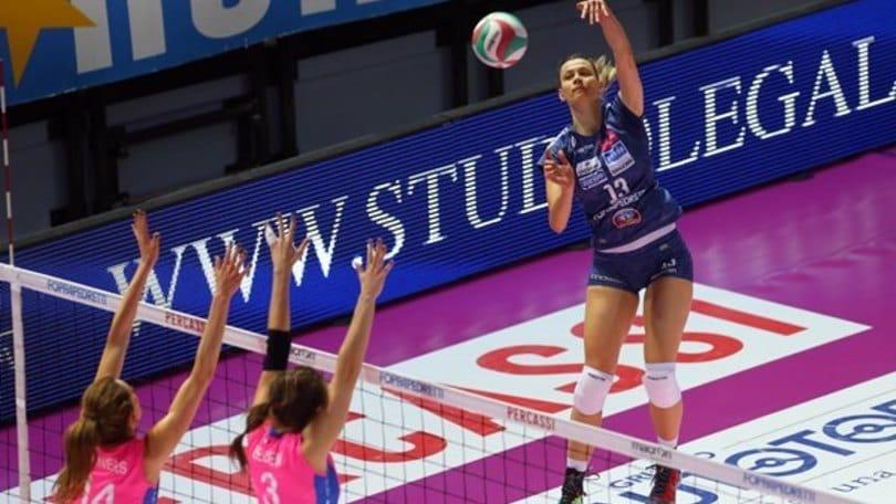 Volley: A1 Femminile, Gara 1 di semifinale, Piacenza vince a Bergamo