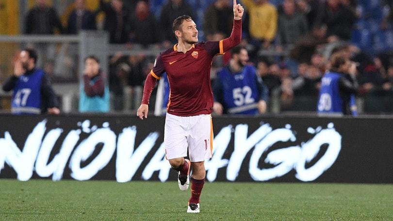 Serie A, Totti super: terzo posto Roma a 1,02