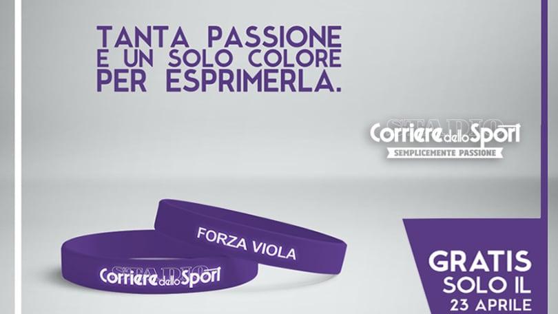 Oggi un grande regalo: il superbraccialetto per tifare Fiorentina