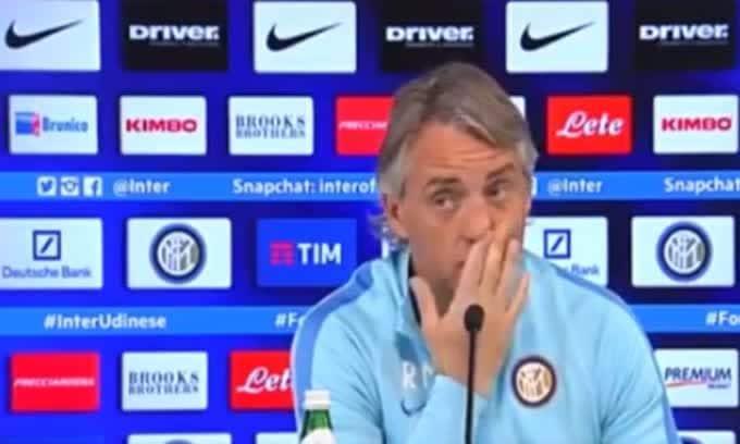 """Mancini: """"Se lascio l'Inter resto a casa"""""""