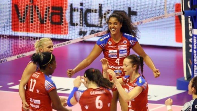 Volley: A1 Femminile, indomabile Bergamo, vince a Piacenza e fa 1-1