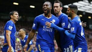 Manchester United-Leicester 1-1: il pari non basta per far esplodere la festa