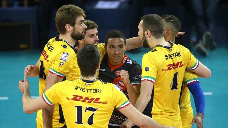 La DHL Modena abbatte le ambizioni corsare di Perugia. 14 ace, 3-0
