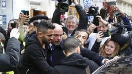 Leicester, giocatori come star in pizzeria