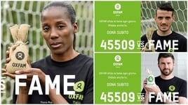 Oxfam: lo sport scende in campo per combattere la fame nel mondo
