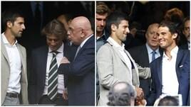 Galliani al Bernabeu: in tribuna con Djokovic e Nadal a vedere Real-City