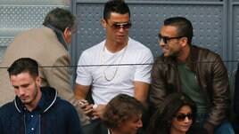 Masters Madrid, Cristiano Ronaldo in tribuna per Nadal-Sousa
