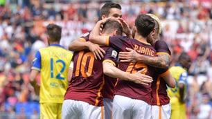 Roma-Chievo 3-0, dominio giallorosso