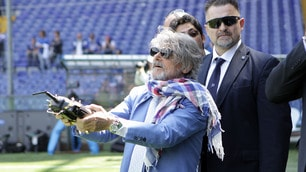 Sampdoria, Ferrero prova un drone prima del derby