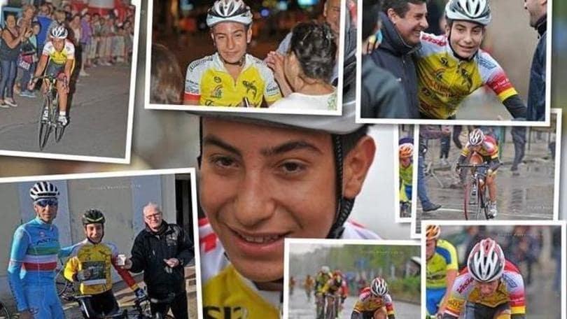 """Sicilia, muore ciclista di 14 anni. Era il """"figlioccio"""" di Nibali"""