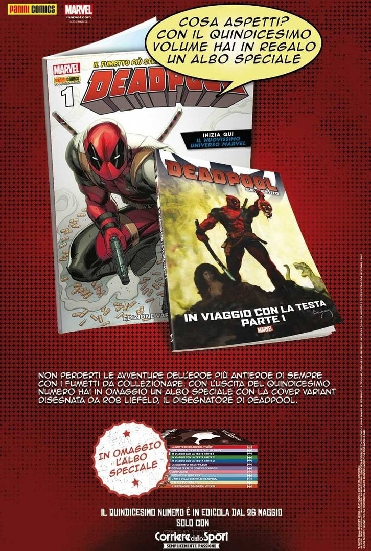 Deadpool -  15° volume e albo speciale in regalo