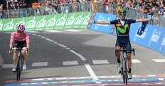 Giro d'Italia, 16ª tappa: Valverde trionfa, Nibali crolla