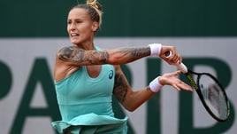 Tennis Roland Garros, che tatuaggi per la bella Polona!