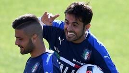 Italia, Eder burlone: che scherzo a Insigne durante l'allenamento!