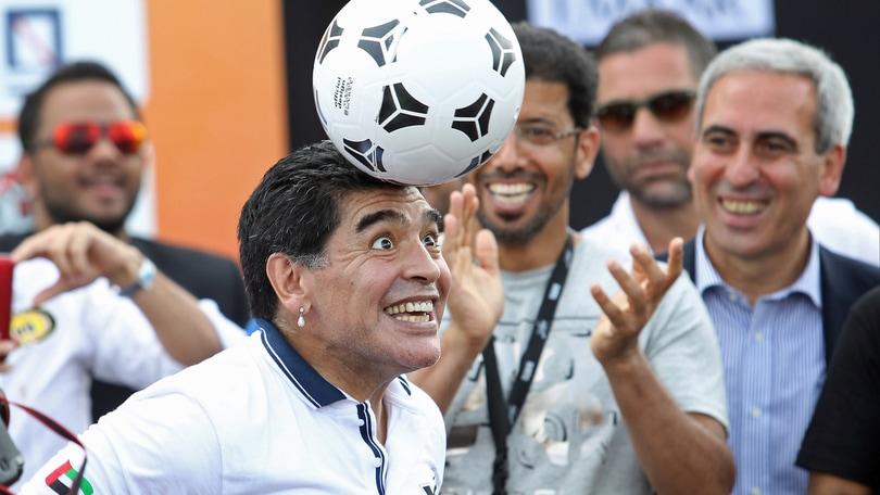 Maradona ha fatto pace con il figlio Diego jr in Argentina