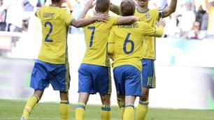 Euro 2016, Svezia-Galles 3-0: Ibrahimovic regala un assist