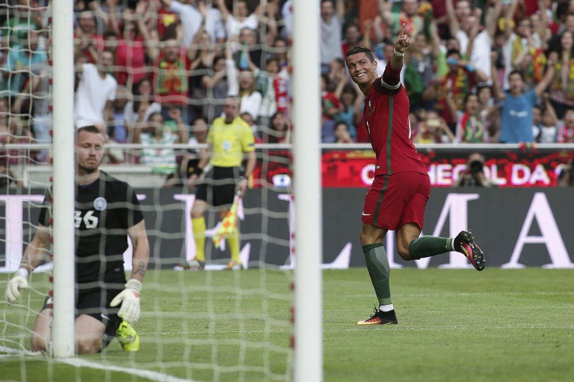 Euro 2016: Portogallo a valanga in amichevole contro l'Estonia, tutte le immagini
