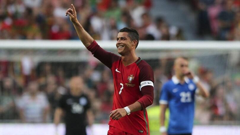 Euro 2016, il Portogallo vince 7-0 in amichevole contro l'Estonia