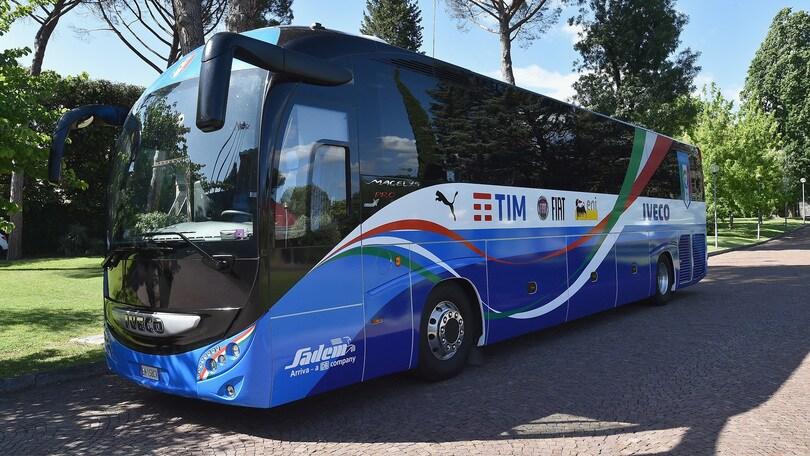 Il bus della Nazionale per gli Europei è firmato Iveco