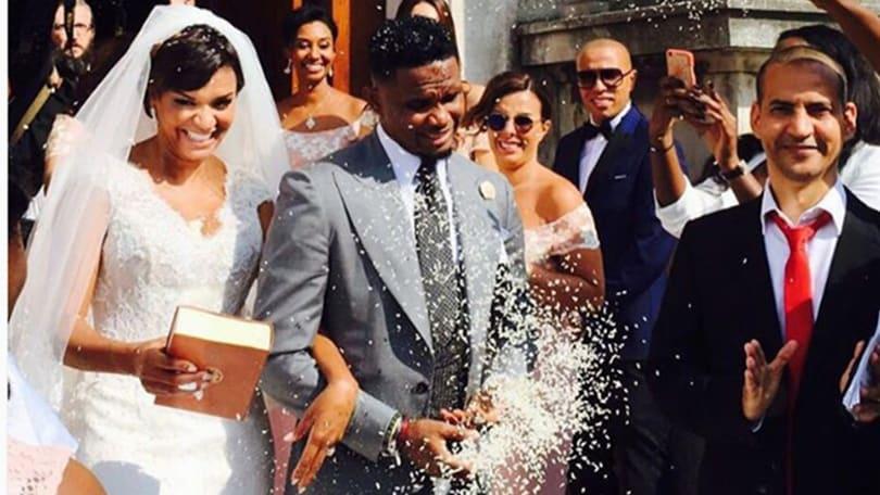 Eto'o sposo in Italia tra cori e super ospiti