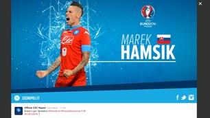 Hamsik, è un destro social. Reina: «Marooo che gol il nostro capitano»