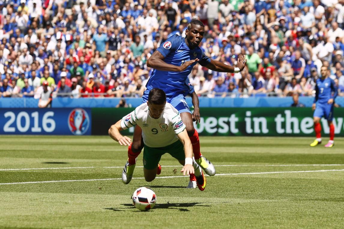 Euro 2016, Francia-Irlanda: Pogba stende Long ed è rigore dopo 3 minuti