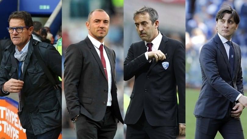 Calciomercato Milan, ore decisive per l'allenatore: Capello più Brocchi, Giampaolo o Montella