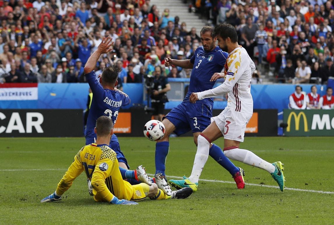 Italia-Spagna, ecco la zampata vincente di Chiellini