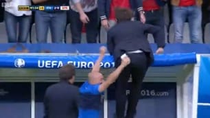 Italia-Spagna, Conte gioia infinita: esulta saltando sulla panchina