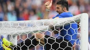 Buffon e il gesto portafortuna: nuovo balzo sulla traversa