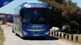 Montpellier, il bus della Nazionale lascia il ritiro.