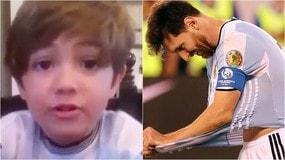 Il piccolo Piero a Messi: «Nel calcio si vince e si perde, conta divertirsi»