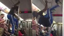 Quando gli acrobati nella metro diventano molesti