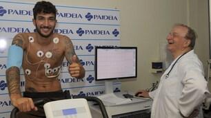 Lazio, visite mediche in Paideia: Cataldi subito in gran forma
