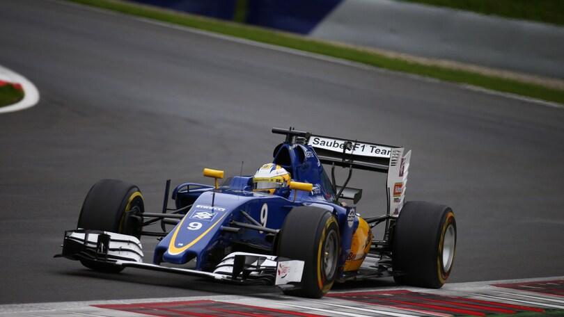 F1, la Sauber salta i test di Silverstone