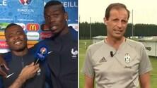 Juventus, Allegri risponde a Evra e Pogba: «Solo una settimana di vacanze? Bravi»