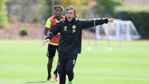Chelsea, primo allenamento di Conte