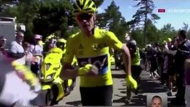 Tour, Froome percorre un tratto della salita di corsa