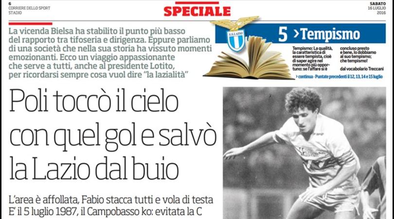Speciale Lazio, con quel gol Poli salvò la squadra dal buio