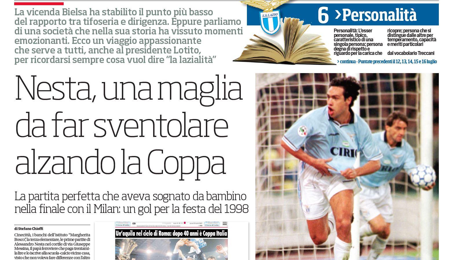 Speciale Lazio:Nesta, una magliada far sventolarealzando la Coppa