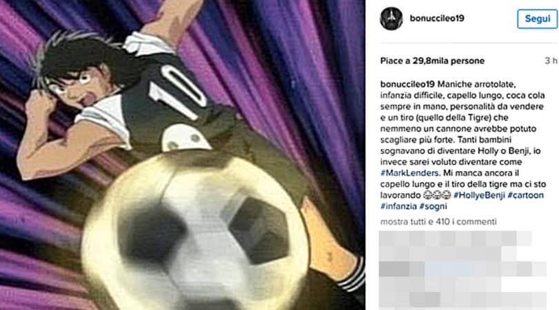 Bonucci, Chiellini, Bertolacci: la Serie A celebra i 30 anni di Holly e Benji