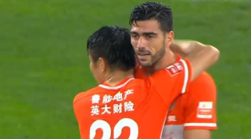 Cina, Pellè segna il suo primo gol con lo Shandong