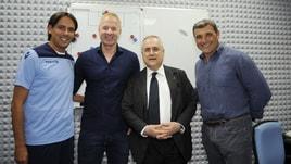Lazio, a Formello al completo: c'è anche Lotito per l'allenamento