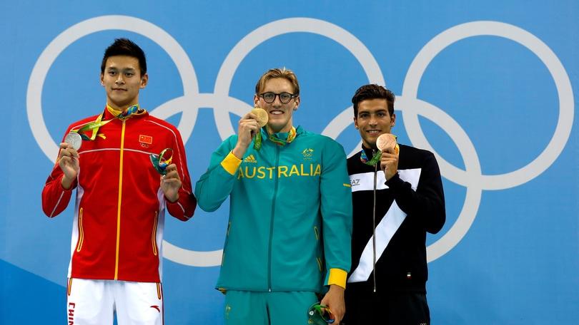 Olimpiadi, nuoto: l'Italia sorride, Detti bronzo nei 400 sl