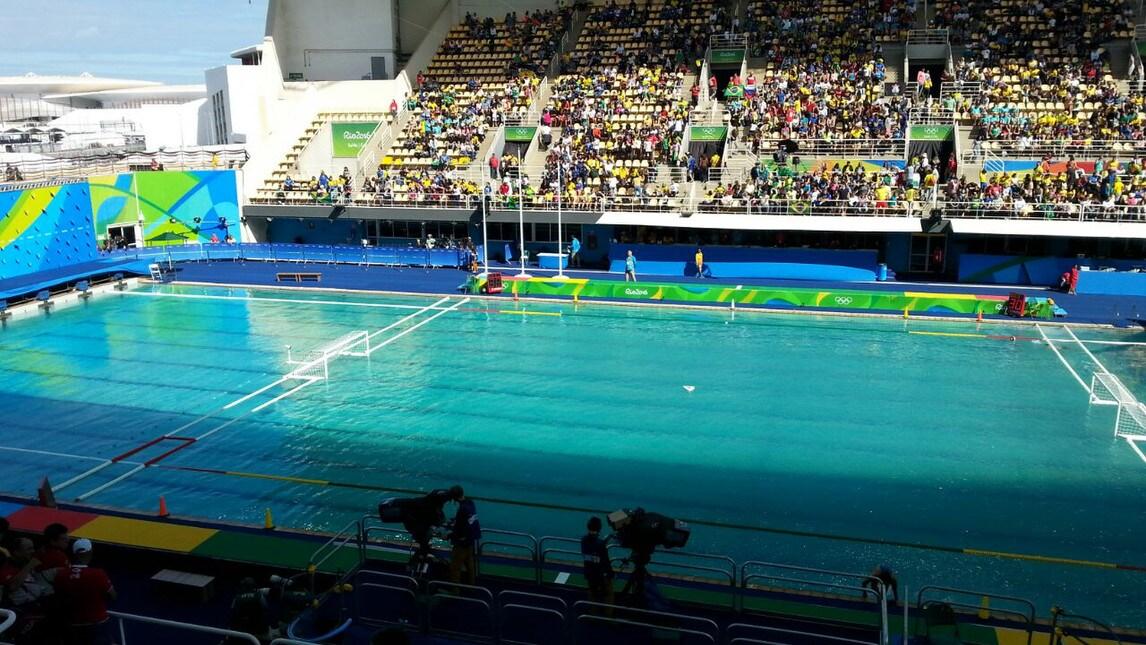 Olimpiadi l 39 acqua della piscina dei tuffi verde corriere dello sport - Piscina olimpiadi ...