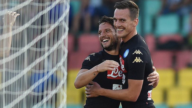 Hertha Berlino-Napoli 1-4: gli azzurri volano, per Milik gol e assist