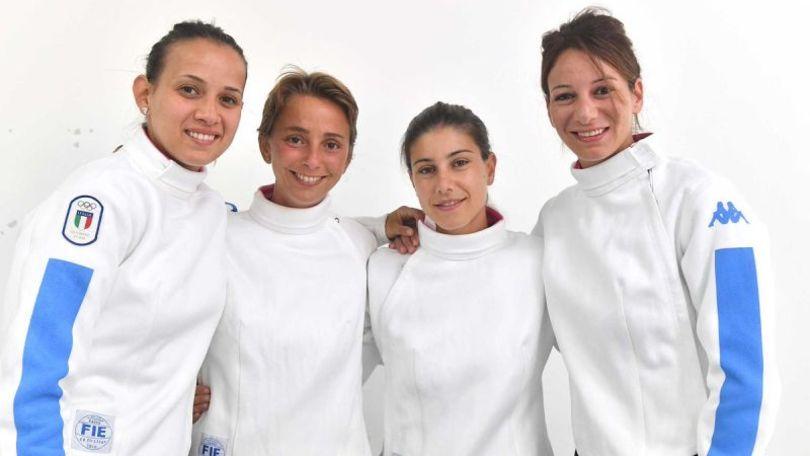 Scherma, Italia di sciabola femminile in semifinale